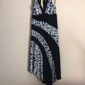 Candies Halter Neck Open Back Asymmetrical Dress